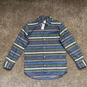 GAP Boys LS Flannel Button Down Shirt L